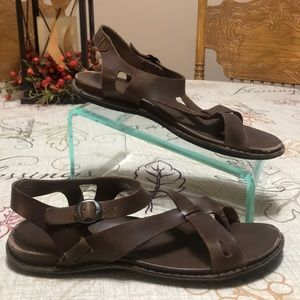 Keen Brown Leather Sandals Size 11
